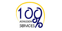 100 Percent Admission Services logo